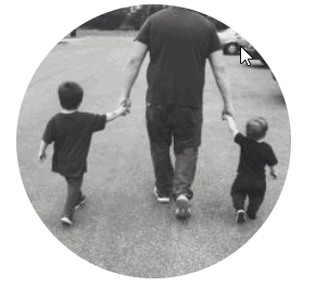 brother walking with kids
